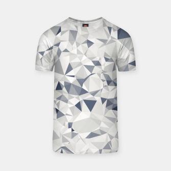 geometric triangle pattern abstract in black and white T-shirt miniature