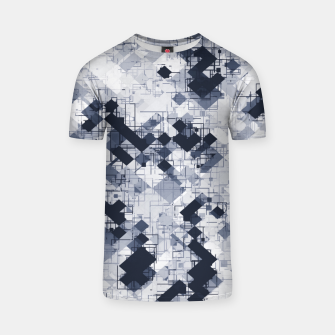geometric pixel pattern abstract in black and white T-shirt miniature