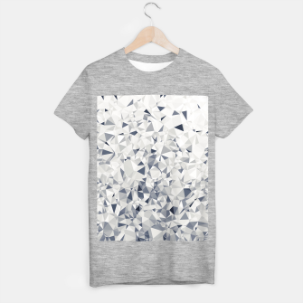 geometric triangle pattern abstract in black and white T-shirt regular miniature