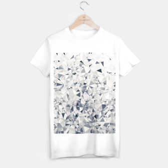 Thumbnail image of geometric triangle pattern abstract in black and white T-shirt regular, Live Heroes