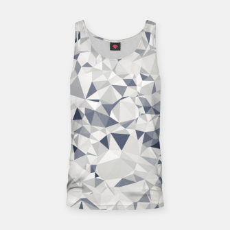 geometric triangle pattern abstract in black and white Tank Top miniature