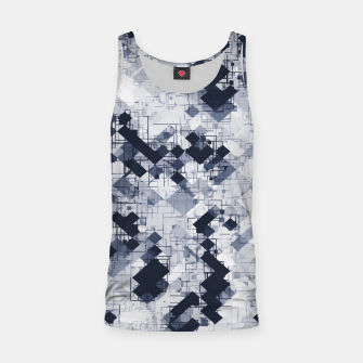 geometric pixel pattern abstract in black and white Tank Top miniature