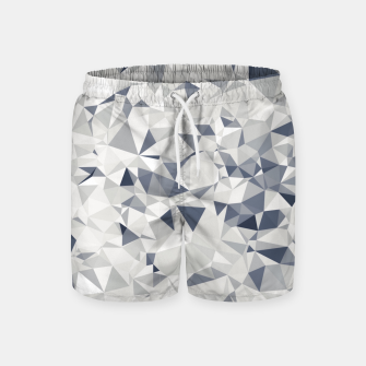geometric triangle pattern abstract in black and white Swim Shorts miniature