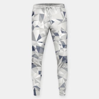 geometric triangle pattern abstract in black and white Sweatpants miniature