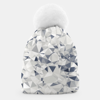 Miniature de image de geometric triangle pattern abstract in black and white Beanie, Live Heroes