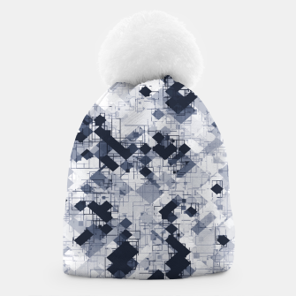 Miniature de image de geometric pixel pattern abstract in black and white Beanie, Live Heroes
