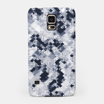 geometric pixel pattern abstract in black and white Samsung Case miniature