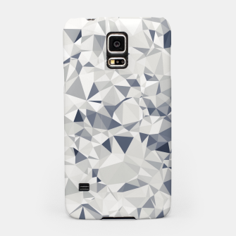 geometric triangle pattern abstract in black and white Samsung Case miniature