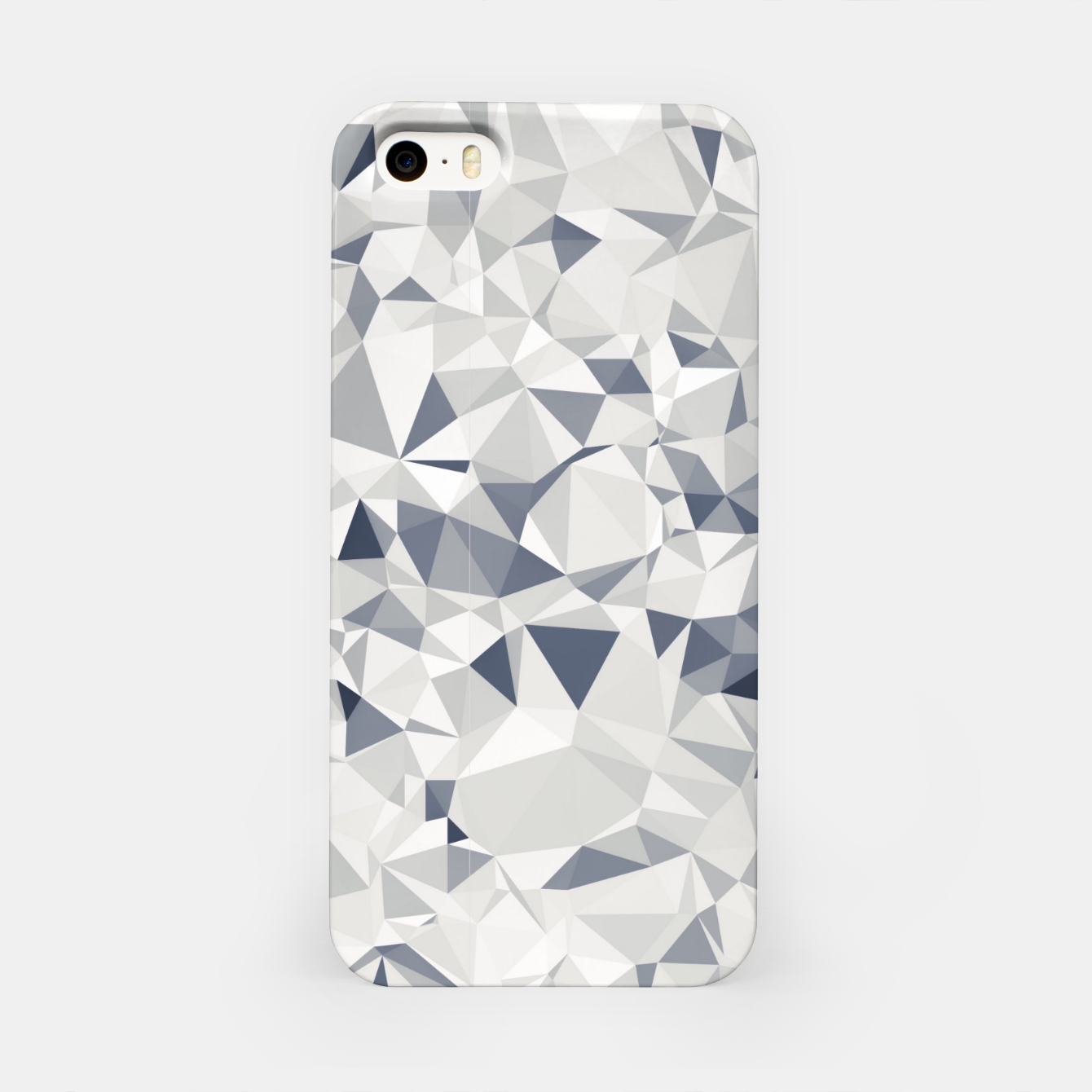 Image de geometric triangle pattern abstract in black and white iPhone Case - Live Heroes