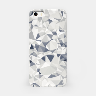 Thumbnail image of geometric triangle pattern abstract in black and white iPhone Case, Live Heroes