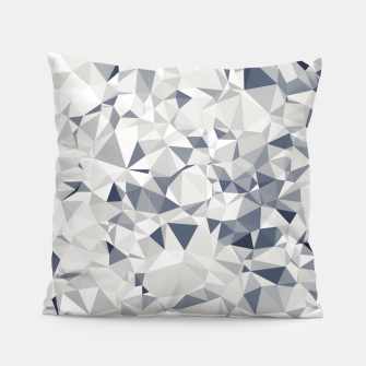 geometric triangle pattern abstract in black and white Pillow miniature