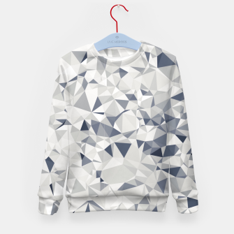geometric triangle pattern abstract in black and white Kid's sweater miniature