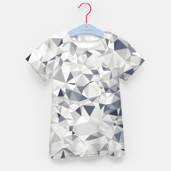 geometric triangle pattern abstract in black and white Kid's t-shirt miniature