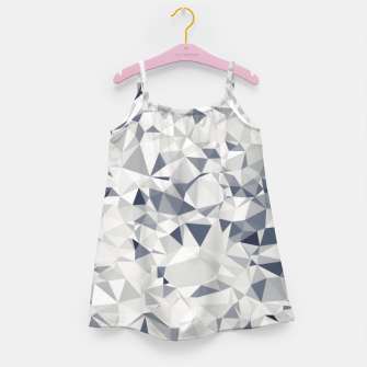 Thumbnail image of geometric triangle pattern abstract in black and white Girl's dress, Live Heroes