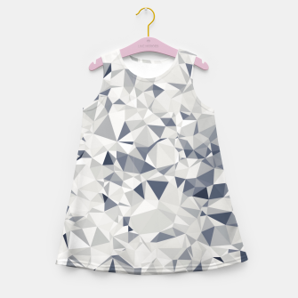 geometric triangle pattern abstract in black and white Girl's summer dress miniature
