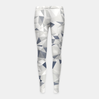 Miniature de image de geometric triangle pattern abstract in black and white Girl's leggings, Live Heroes