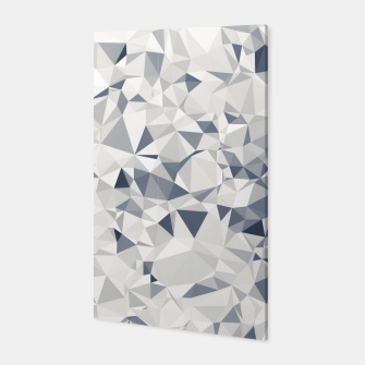 Miniature de image de geometric triangle pattern abstract in black and white Canvas, Live Heroes