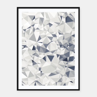 geometric triangle pattern abstract in black and white Framed poster miniature