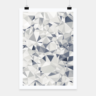 geometric triangle pattern abstract in black and white Poster miniature