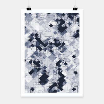 Miniature de image de geometric pixel pattern abstract in black and white Poster, Live Heroes