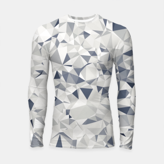 geometric triangle pattern abstract in black and white Longsleeve rashguard  miniature