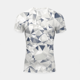 geometric triangle pattern abstract in black and white Shortsleeve rashguard miniature