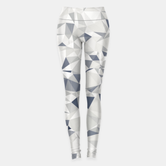 geometric triangle pattern abstract in black and white Leggings miniature