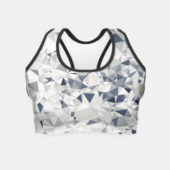 geometric triangle pattern abstract in black and white Crop Top miniature