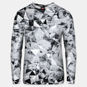 Thumbnail image of geometric triangle pattern abstract background in black and white Unisex sweater, Live Heroes