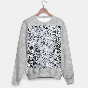 Thumbnail image of geometric triangle pattern abstract background in black and white Sweater regular, Live Heroes