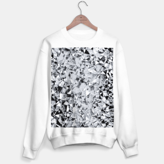 Miniature de image de geometric triangle pattern abstract background in black and white Sweater regular, Live Heroes