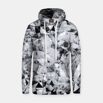 Thumbnail image of geometric triangle pattern abstract background in black and white Hoodie, Live Heroes