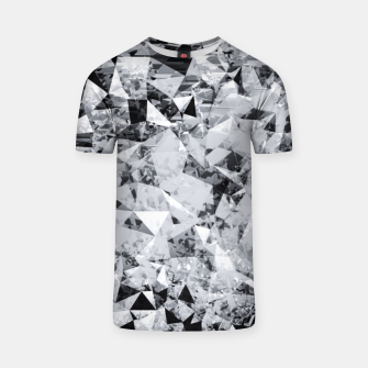 Thumbnail image of geometric triangle pattern abstract background in black and white T-shirt, Live Heroes