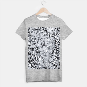 Miniature de image de geometric triangle pattern abstract background in black and white T-shirt regular, Live Heroes
