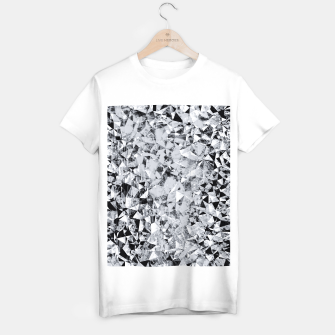 Thumbnail image of geometric triangle pattern abstract background in black and white T-shirt regular, Live Heroes