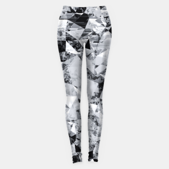 Thumbnail image of geometric triangle pattern abstract background in black and white Leggings, Live Heroes
