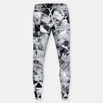 Thumbnail image of geometric triangle pattern abstract background in black and white Sweatpants, Live Heroes