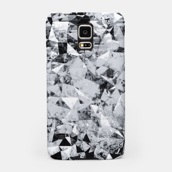Miniature de image de geometric triangle pattern abstract background in black and white Samsung Case, Live Heroes