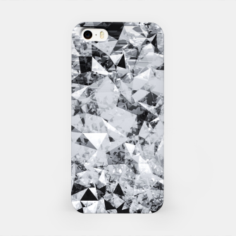 Thumbnail image of geometric triangle pattern abstract background in black and white iPhone Case, Live Heroes