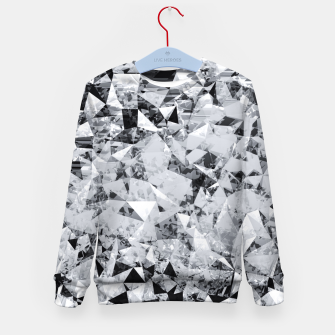 Miniaturka geometric triangle pattern abstract background in black and white Kid's sweater, Live Heroes