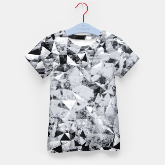 Thumbnail image of geometric triangle pattern abstract background in black and white Kid's t-shirt, Live Heroes