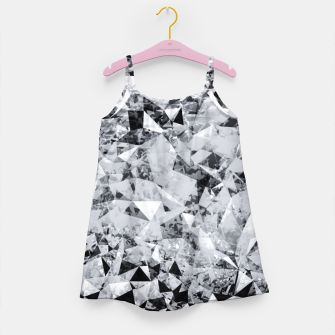 Thumbnail image of geometric triangle pattern abstract background in black and white Girl's dress, Live Heroes