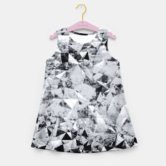 Thumbnail image of geometric triangle pattern abstract background in black and white Girl's summer dress, Live Heroes