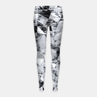 Thumbnail image of geometric triangle pattern abstract background in black and white Girl's leggings, Live Heroes