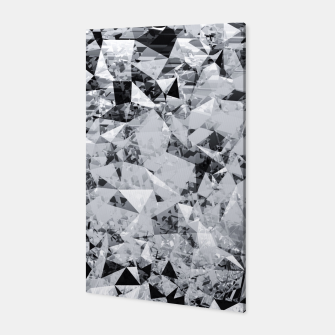 Thumbnail image of geometric triangle pattern abstract background in black and white Canvas, Live Heroes