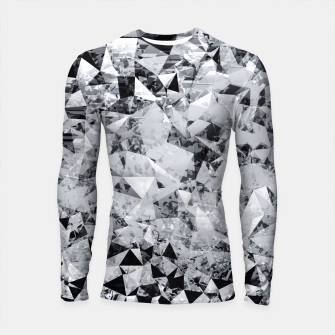 Thumbnail image of geometric triangle pattern abstract background in black and white Longsleeve rashguard , Live Heroes