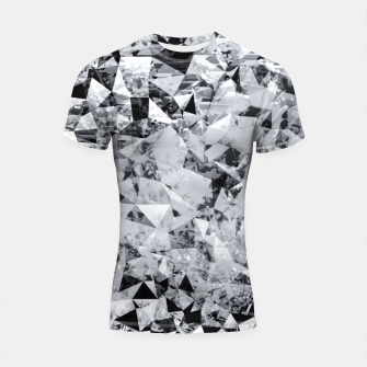 Thumbnail image of geometric triangle pattern abstract background in black and white Shortsleeve rashguard, Live Heroes