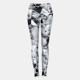 Miniature de image de geometric triangle pattern abstract background in black and white Leggings, Live Heroes