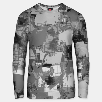 Miniatur splash geometric abstract in black and white Unisex sweater, Live Heroes