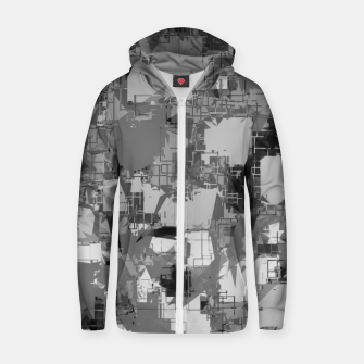 Thumbnail image of splash geometric abstract in black and white Zip up hoodie, Live Heroes